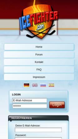 Vorschau der mobilen Webseite www.icefighter.com, IceFighter