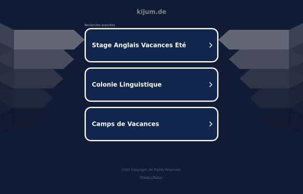 Vorschau von www.kijum.de, KiJuM - Kinder- und Jugendhaus Mariendorf