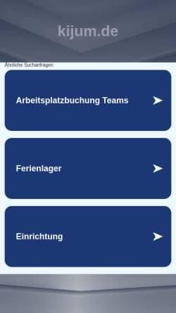 Vorschau der mobilen Webseite www.kijum.de, KiJuM - Kinder- und Jugendhaus Mariendorf