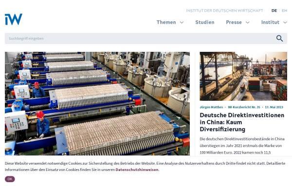 Vorschau von www.iwkoeln.de, Institut der Deutschen Wirtschaft (IW)