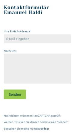 Vorschau der mobilen Webseite ehaldi.ch, Haldi, Dr. Emanuel David