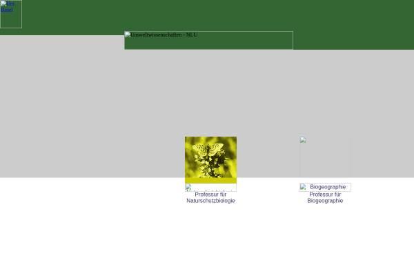 Vorschau von www.conservation.unibas.ch, Institut für Natur-, Landschafts- und Umweltschutz (NLU) Biogeographie