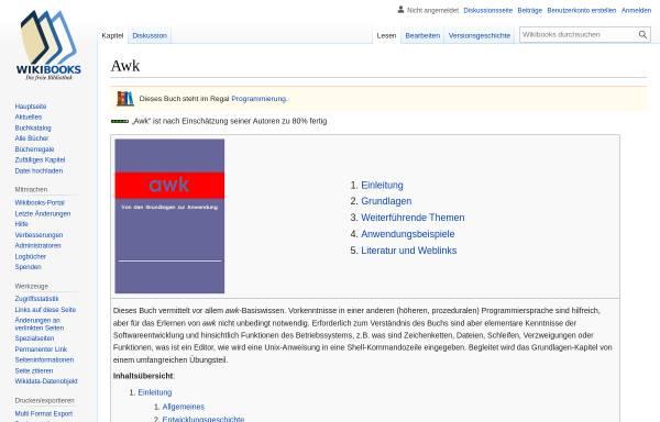 Vorschau von de.wikibooks.org, Awk