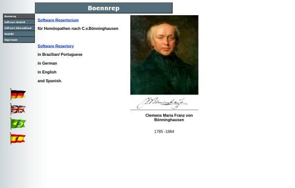 Vorschau von www.boennrep.de, BoennRep - Homöopathie Repertorium