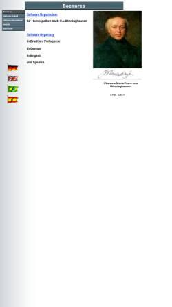 Vorschau der mobilen Webseite www.boennrep.de, BoennRep - Homöopathie Repertorium