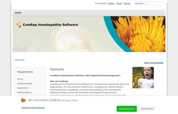 Vorschau von www.comrep.de, ComRep Software