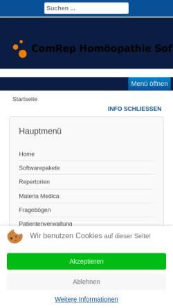 Vorschau der mobilen Webseite www.comrep.de, ComRep Software