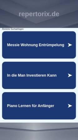 Vorschau der mobilen Webseite www.repertorix.de, Homöopathie Software RepertoriX 2006