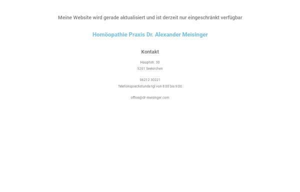 Vorschau von dr-meisinger.com, Dr. Alexander Meisinger