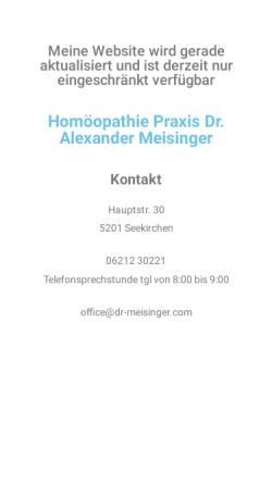 Vorschau der mobilen Webseite dr-meisinger.com, Dr. Alexander Meisinger