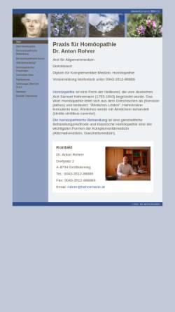 Vorschau der mobilen Webseite www.hahnemann.at, Dr. Anton Rohrer - Praxis für Homöopathie