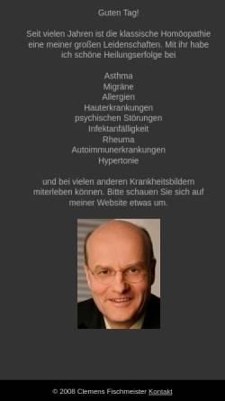 Vorschau der mobilen Webseite www.drfischmeister.at, Dr. Clemens Fischmeister