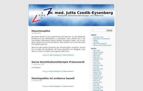 Vorschau von ordination.czedik.net, Dr. Jutta Czedik-Eysenberg