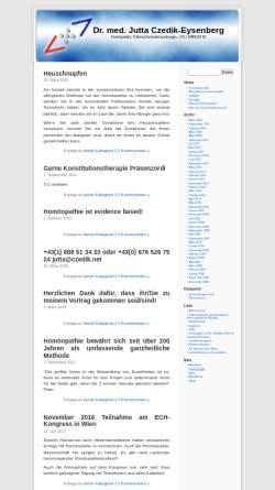 Vorschau der mobilen Webseite ordination.czedik.net, Dr. Jutta Czedik-Eysenberg