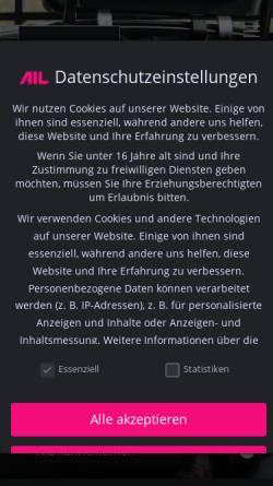 Vorschau der mobilen Webseite www.ail.de, AIL Leasing München GmbH