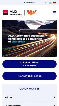 Vorschau der mobilen Webseite www.aldautomotive.de, ALD AutoLeasing D GmbH