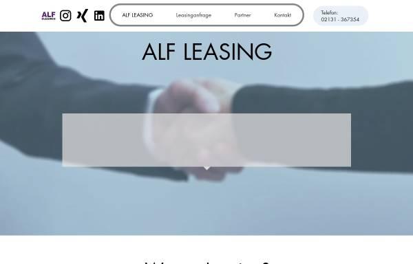 Vorschau von alfleasing.de, ALF Agentur für Leasing & Finanzierung Jörg Reffert