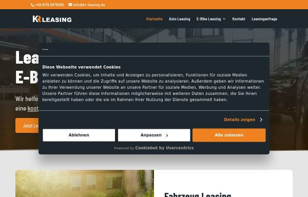 Vorschau von www.kr-leasing.de, KR-Leasing GmbH
