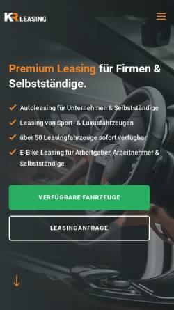 Vorschau der mobilen Webseite www.kr-leasing.de, KR-Leasing GmbH