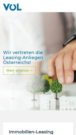 Vorschau der mobilen Webseite www.leasingverband.at, Verband österreichischer Leasing-Gesellschaften