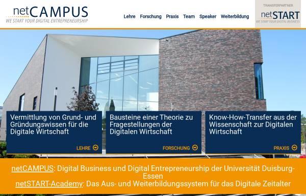 Vorschau von www.ebusiness-lehrstuhl.de, Forschung und Lehre für die New Economy