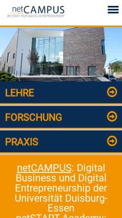 Vorschau der mobilen Webseite www.ebusiness-lehrstuhl.de, Forschung und Lehre für die New Economy