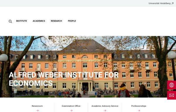 Vorschau von www.awi.uni-heidelberg.de, Wirtschaftswissenschaftliche Fakultät der Universität Heidelberg
