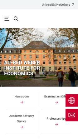 Vorschau der mobilen Webseite www.awi.uni-heidelberg.de, Wirtschaftswissenschaftliche Fakultät der Universität Heidelberg