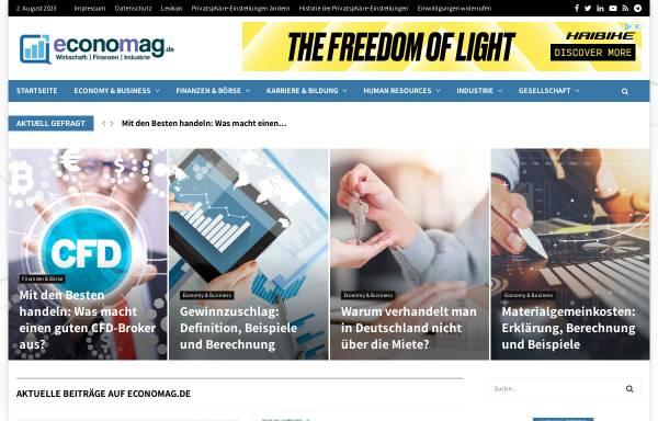 Vorschau von www.economag.de, economag.