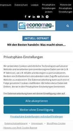 Vorschau der mobilen Webseite www.economag.de, economag.