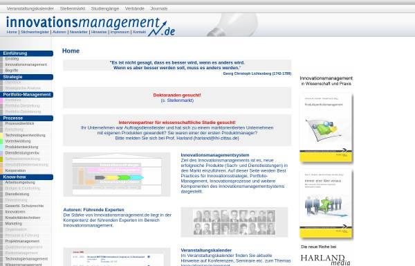 Vorschau von www.innovationsmanagement.de, Innovationsmanagement.de