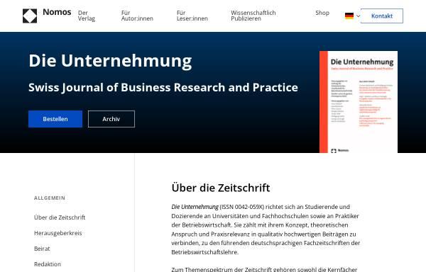Vorschau von www.dieunternehmung.ch, Die Unternehmung