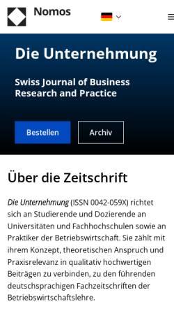 Vorschau der mobilen Webseite www.dieunternehmung.ch, Die Unternehmung