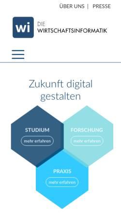 Vorschau der mobilen Webseite www.wirtschaftsinformatik.de, Wirtschaftsinformatik Online
