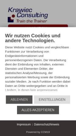 Vorschau der mobilen Webseite www.train-the-trainer-seminar.de, Krawiec Consulting - Train the Trainer, Inh. Ingo Krawiec