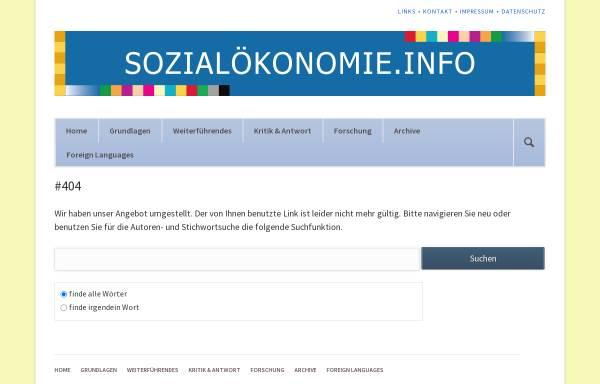 Vorschau von www.sozialoekonomie.de, Zeitschrift für Sozialökonomie