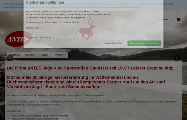 Vorschau von www.waffen-antes.de, Antes Jagd- und Sportwaffen GmbH