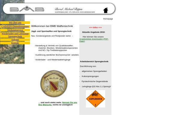 Vorschau von www.bmb-waffen.de, BMB Waffentechnik und Feinmechanik