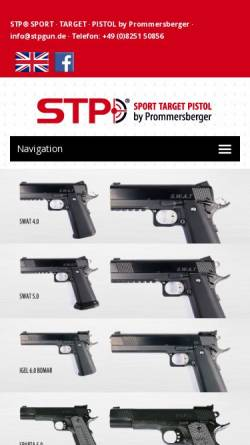 Vorschau der mobilen Webseite www.gunmaker.de, Büchsenmacherei Prommersberger