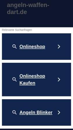 Vorschau der mobilen Webseite www.angeln-waffen-dart.de, Diener's Waffenladen