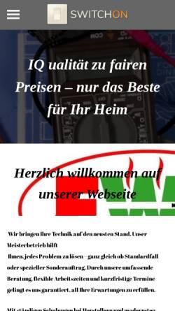 Vorschau der mobilen Webseite www.e-w-a.de, EWA Meisterbetrieb, Inh. Werner Aumeier
