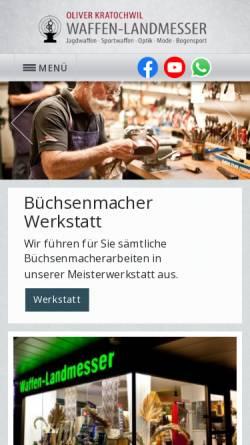 Vorschau der mobilen Webseite www.ferlacher-waffenschmiede.de, Ferlacher Waffenschmiede