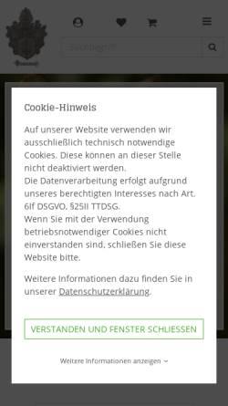 Vorschau der mobilen Webseite www.waffen-brammer.de, Jagd - Sport - Mode Brammer