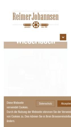 Vorschau der mobilen Webseite www.johannsen-jagd.de, Reimer Johannsen GmbH