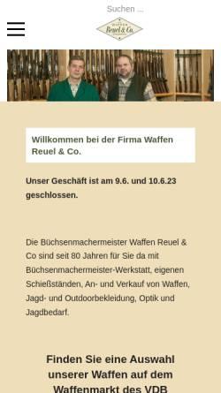 Vorschau der mobilen Webseite www.waffen-reuel-co.de, Waffen Reuel & Co.