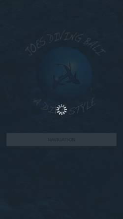 Vorschau der mobilen Webseite www.joesdivingbali.com, Joe's Diving Bali