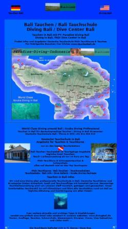 Vorschau der mobilen Webseite www.b-a-l-i.com, Paradise-Diving-Indonesia