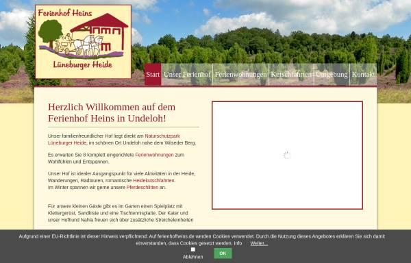 Vorschau von www.ferienhofheins.de, Ferienhof Heins