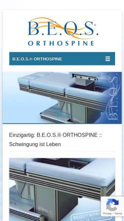 Vorschau der mobilen Webseite www.b-e-o-s.de, B.E.O.S GmbH