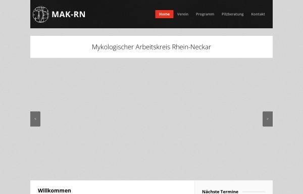 Vorschau von www.mak-rn.de, Mykologischer Arbeitskreis Rhein-Neckar